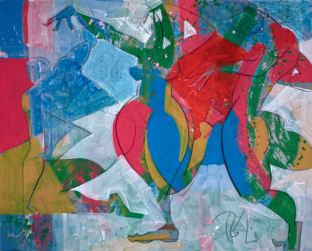 Dancers in Motion by toby mulligan -  sized 60x48 inches. Available from Whitewall Galleries
